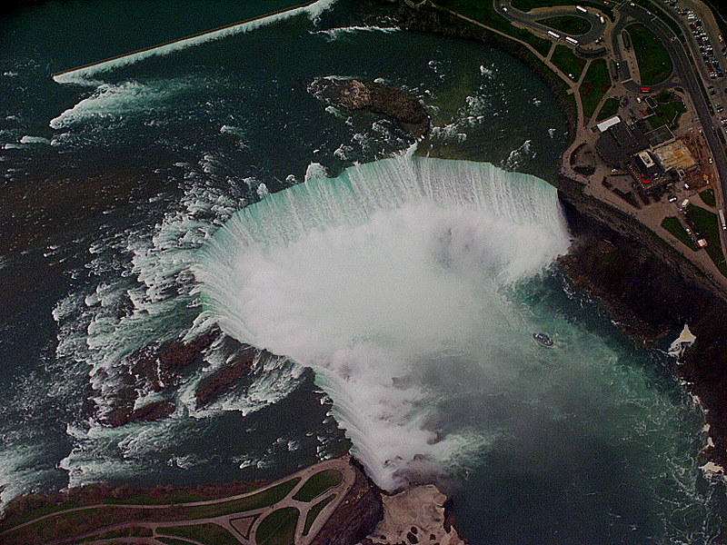 An aerial picture of a dam